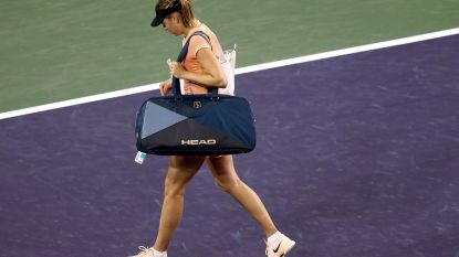 Snelle exit voor Sharapova