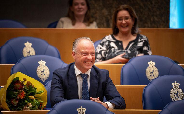 Vervoer-woordvoerder Remco Dijkstra is volgens Arib 'de verpersoonlijking van de VVD als vroempartij'. Beeld Freek van den Bergh / de Volkskrant
