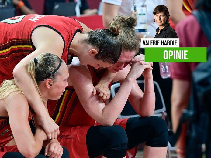 De Belgian Cats na de pijnlijke uitschakeling.