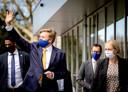 Koning Willem Alexander tijdens een werkbezoek aan Het Van Weel-Bethesda Ziekenhuis in Dirksland.