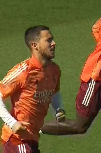 """Hazard traint weer voluit mee bij Real, maar zit nog niet in selectie - Zidane: """"Eden moet rustig blijven"""""""