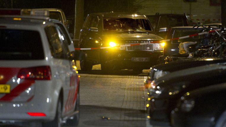 De Range Rover waarin Benaouf A., samen met Saïd el Yazidi en Youssef Lkhorf naar de Staatsliedenbuurt kwam. Beeld anp