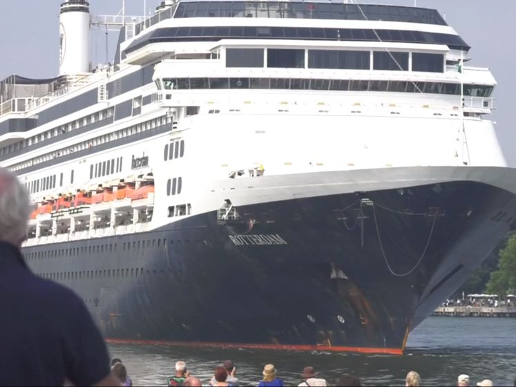 Emotioneel afscheid van vlaggenschip MS Rotterdam: 'Ik heb er mijn vrouw ontmoet'