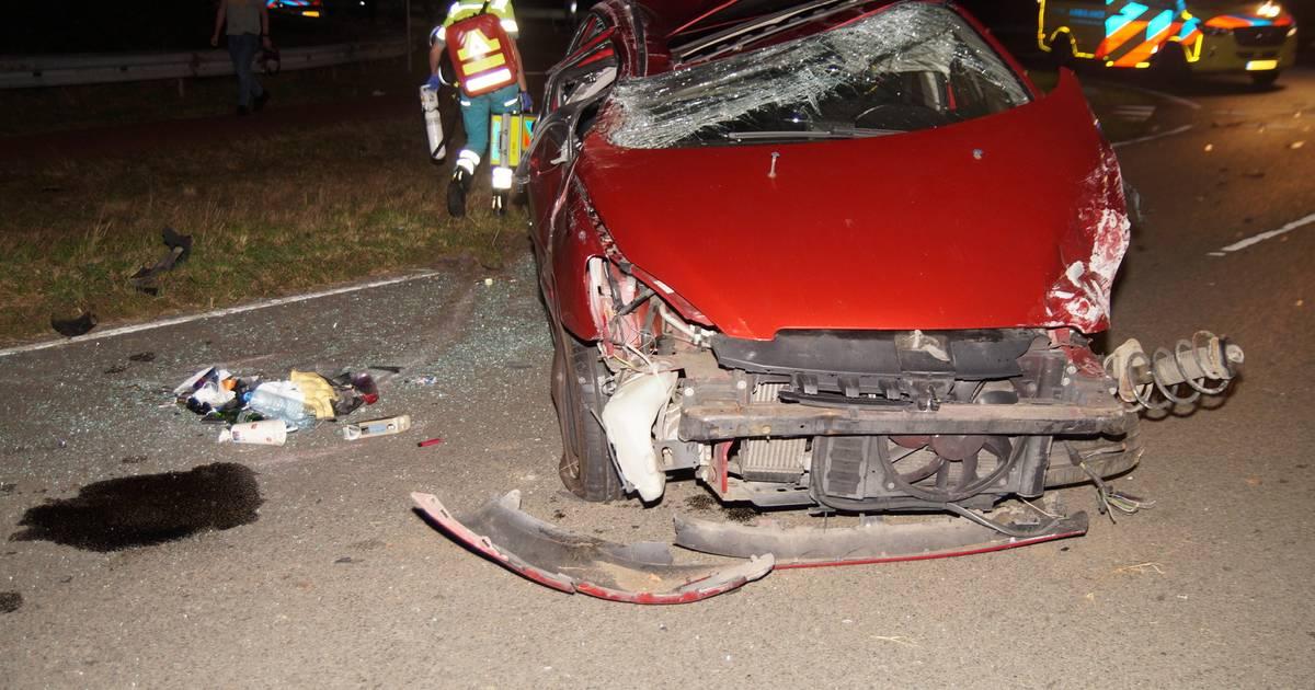 Twee automobilisten gewond bij zware botsing in Oudheusden.