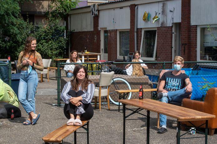 Een studentenhuis in Wageningen waar alle bewoners in quarantaine moesten vanwege corona.