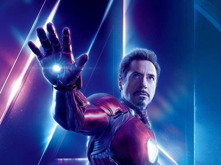 Acteur Robert Downey, Jr. speelt mee in de enorm populaire Marvel-filmreeks. De nieuwe Avengers komt uit op 26 april. Beeld RV