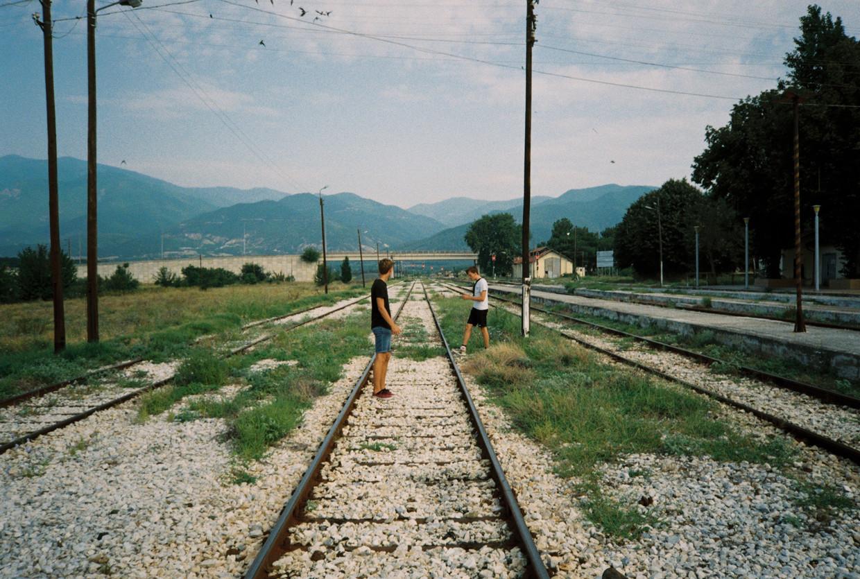 Het station van Strymonas, Griekenland.