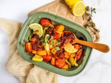 Wat Eten We Vandaag: Ovenschotel met kip en zoete aardappel