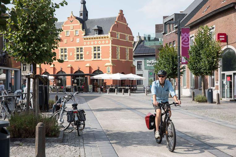 De fietsstraat in Peer.