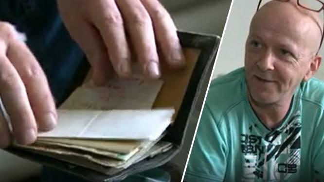 """Pascal (54) krijgt na 36 jaar verloren portefeuille terug: """"Inhoud brengt mooie herinneringen terug"""""""