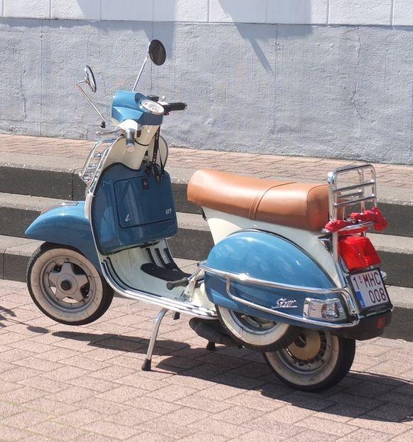 De scooter van Stijn Meuris.