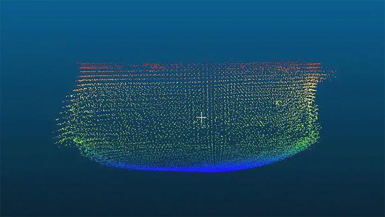 Aquatica Submarines kon met sonar een 3D-kaart samenstellen van het zinkgat. Die kaart wordt binnenkort gepubliceerd.