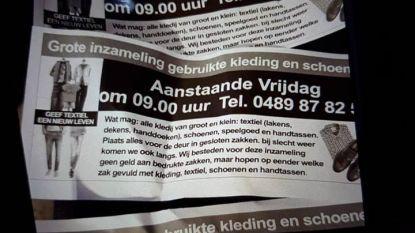 Spoor 2 waarschuwt voor flyers over kledijophaling vrijdag