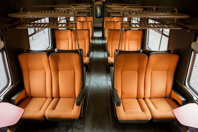 Archiefbeeld: beeld van een eerste klasse-wagon.  Beeld BELGA