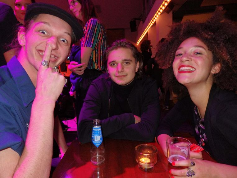 Acteurs, de nieuwe generatie. Sjeng Kessels, Chris Peters (Tonio) en Jade Olieberg (vlnr) Beeld Schuim