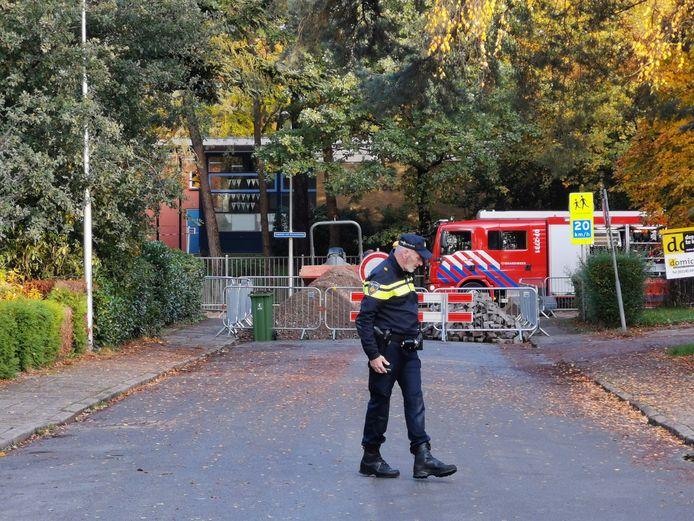 Bij graafwerkzaamheden aan de Ceelman van Ommerenweg in Ede werd een gasleiding geraakt.