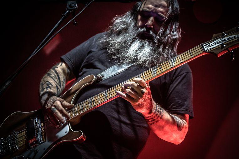 Bassist en zanger Al Cisneros van de doomband Sleep. Beeld Paul Verhagen