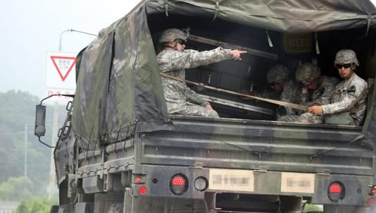 Ook Amerikaanse troepen in Zuid-Korea zijn voorbereid