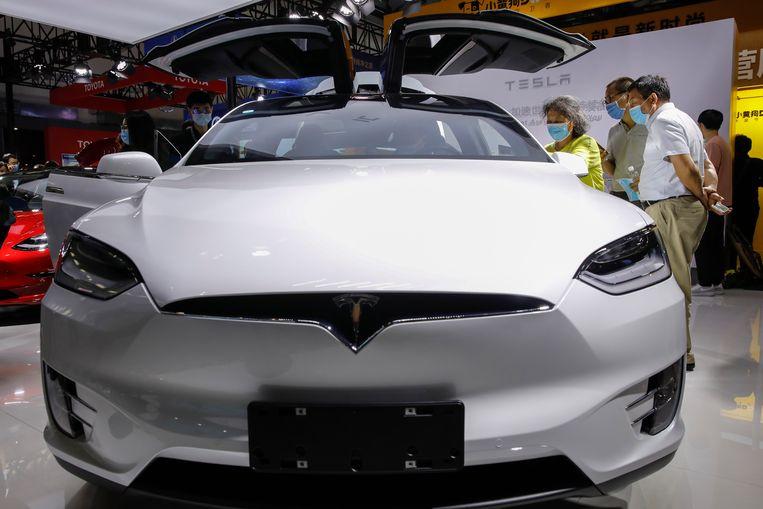 Een Tesla Model X.  Beeld European Press Agency (EPA)