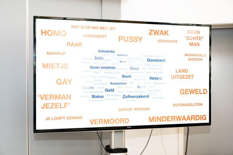 De workshop van Emancipator aan het ROC van Amsterdam Beeld Sanne De Wilde