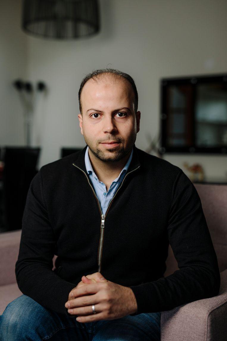 Eyad Abo Shamleh (33) uit Damascus (Syrië) – werkt bij NS. Beeld Marc Driessen