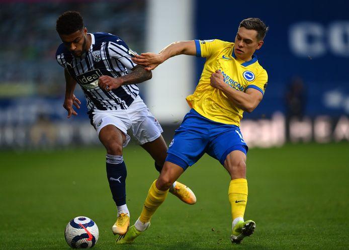 Leandro Trossard speelde de volledige wedstrijd voor Brighton.