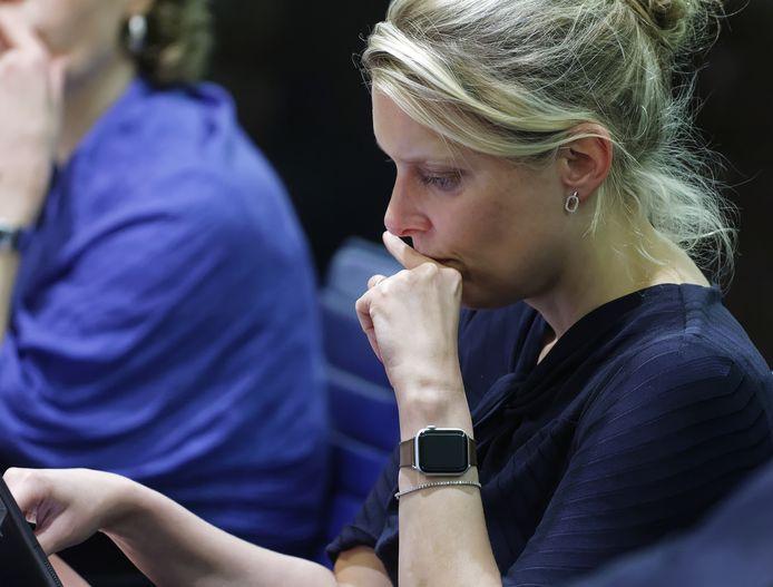 Marianne van der Sloot tijdens het debat van afgelopen vrijdag.