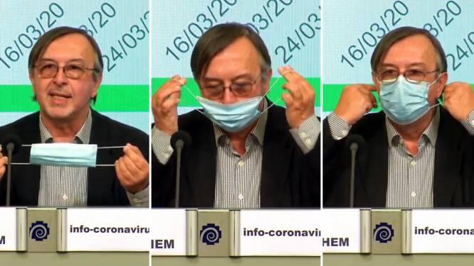 Experten leggen stap voor stap uit hoe je mondmasker moet op- en afzetten