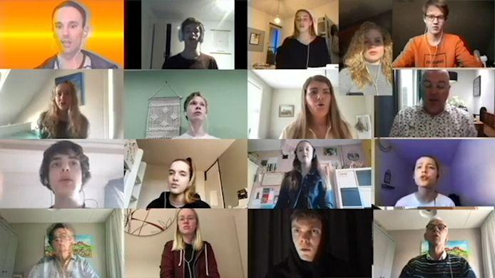Het virtuele Greijdanus Schoolkoor uit Zwolle.