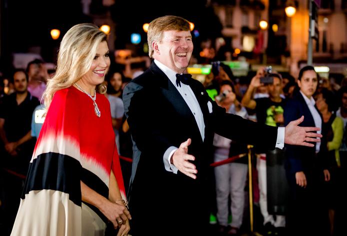 Koning Willem-Alexander en koningin Máxima bij hun staatsbezoek aan Portugal.