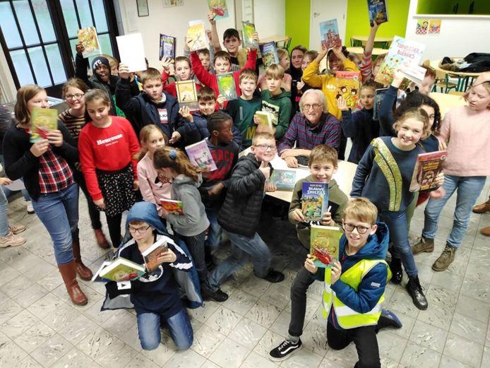 Jeugdauteur Marc De Bel bezocht school De Kleine Prins in Lede.