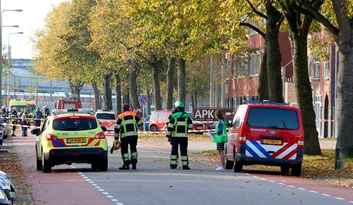 Na de explosie werd het terrein rond GEA door de politie afgesloten.