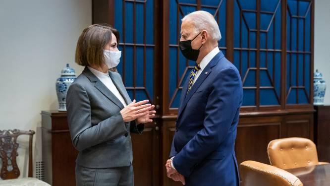 President Biden ontmoet Wit-Russische oppositieleidster in Witte Huis