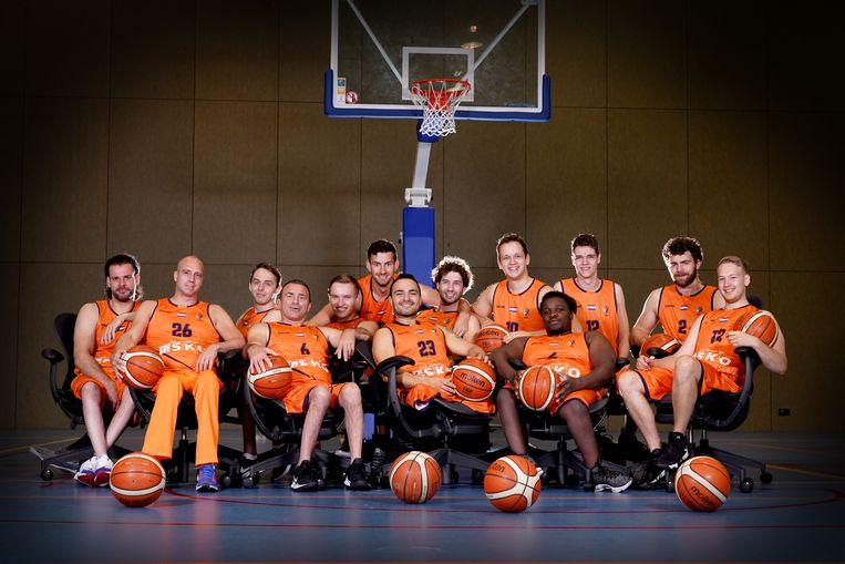 Het Nederlandse mannenteam rolstoelbasketbal Beeld  Robert Koelewijn