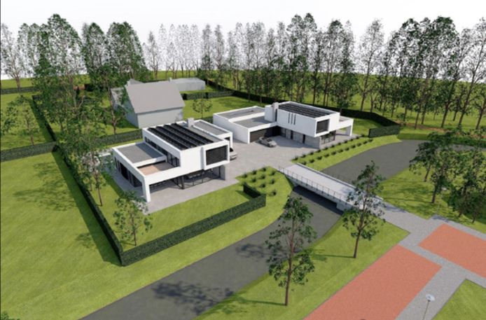 Een impressie van de toekomstige woningen op het perceeel Akkerlaan 20.