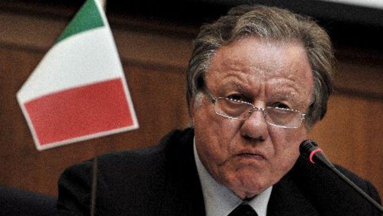 De Italiaanse minister van Verkeer Altero Matteoli. ANP Beeld