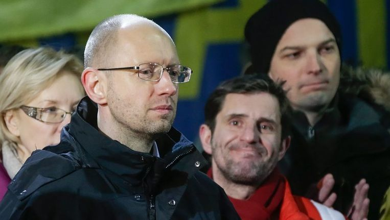 De Oekraïense interim-premier Arseni Jatsenjoek Beeld EPA