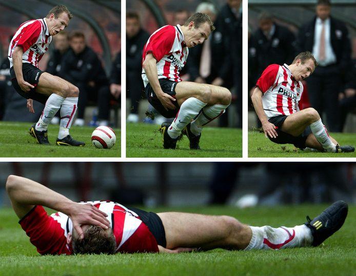 Arjen Robben loopt een hamstringblessure op tegen FC Groningen.