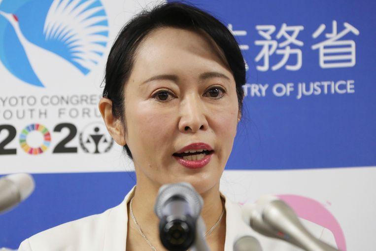 De Japanse minister van Justitie Masako Mori  Beeld AP