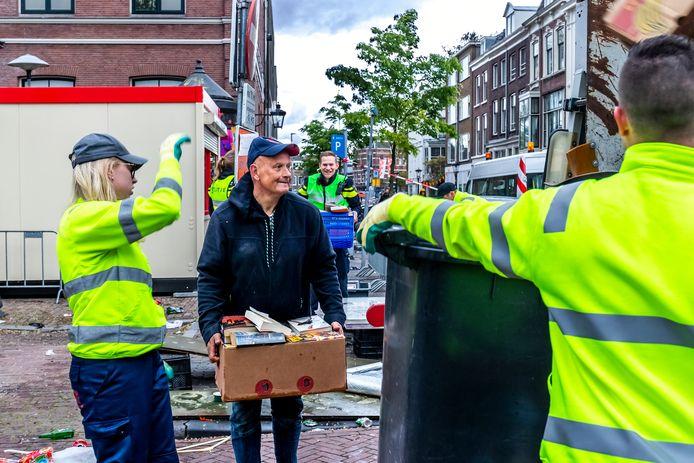 Ongeveer 100.000 kilo afval  is er na Koningsdag opgehaald door de reinigingsdiensten.