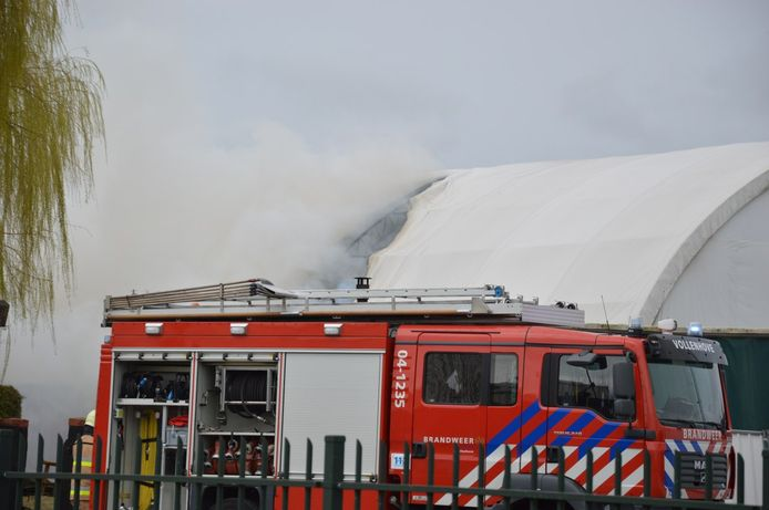Brand in Marknesse.