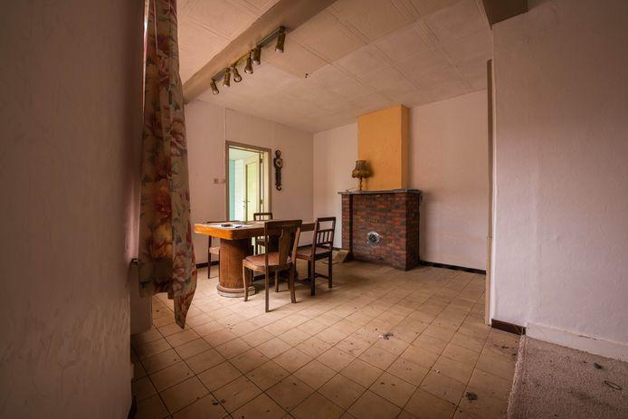 De woonkamer in Lokeren: voor