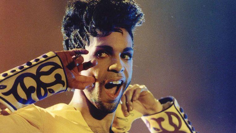 Prince tijdens zijn concert in Rotterdam. Beeld ANP