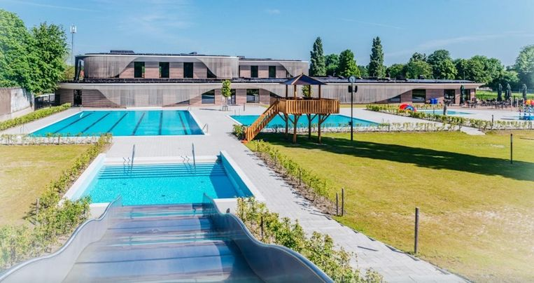 Het Noorderparkbad is vanaf maandag ook open om zwemmen tijdens de lockdown voor meer mensen mogelijk te maken.  Beeld Jitske Schols/Gemeente Amsterdam