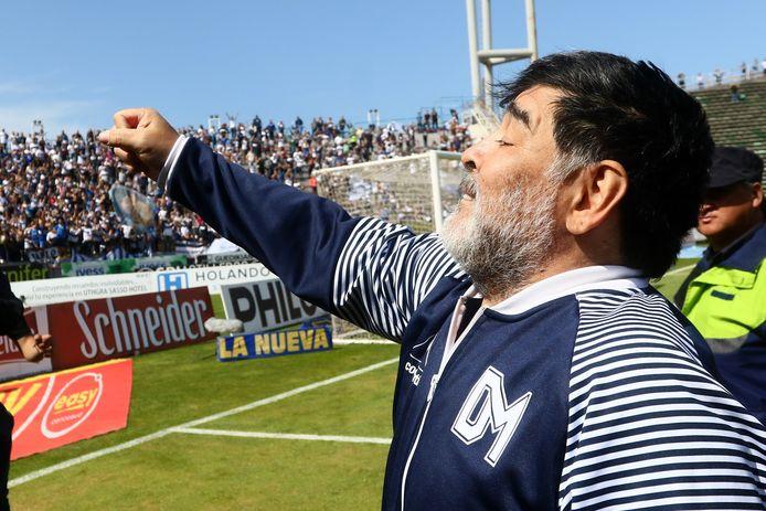 Diego Maradona bij Gimnasia.