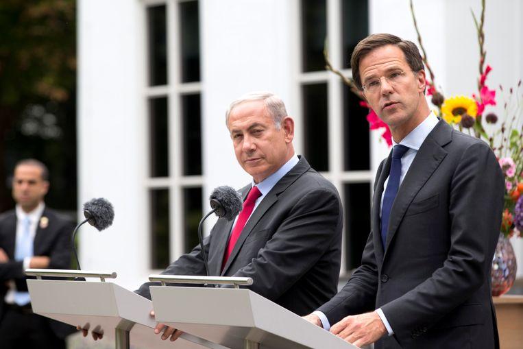 De Israëlische premier Benjamin Netanyahu en de Nederlandse eerste minister Mark Rutte.