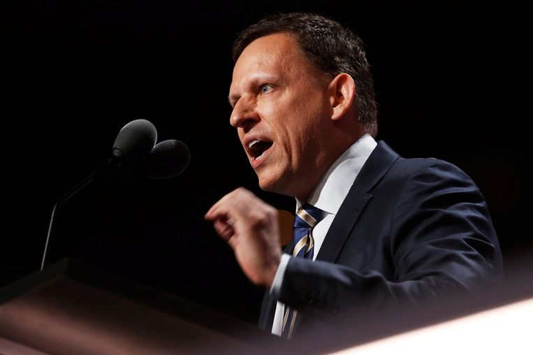 Peter Thiel spreekt op de Nationale Republikeinse Conferentie in Cleveland, Ohio. Beeld REUTERS