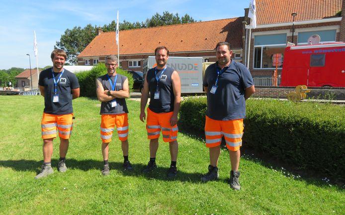 Van links naar rechts: Bram Van Den Abeele, Sven Noterman, Jonas Bauwens en Dave Dhondt.