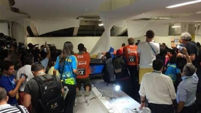 Chileense fans schoppen keet in perszone Maracanastadion
