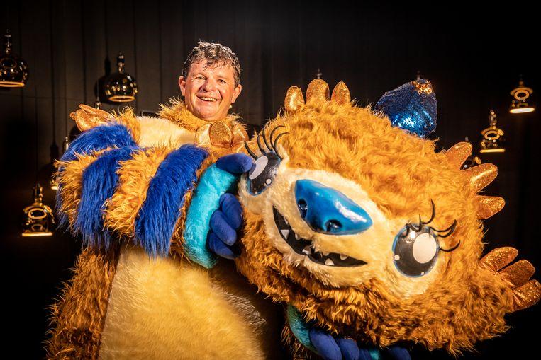 The Masked Singer; seizoen 1, aflevering 1 op vrijdag 18 september 2020 bij VTM. Op de foto: Bart Tommelein. Beeld VTM